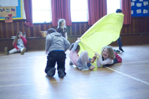 Children having fun with movement